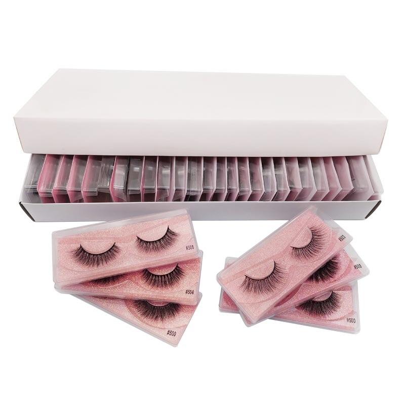 Mink Eyelashes Wholesale 20/30/40/50pcs Mink Eyelashes Wholesale Lashes In Bulk Lashes Natural False Lash Bulk Makeup Eyelashes(China)