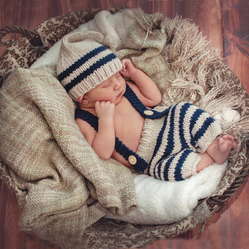 Kid Hot Selling Newborn Baby Boys Girls Cute Crochet Knit Costume Prop Outfits Photo Baby Newborn Photography Props Costume Cute