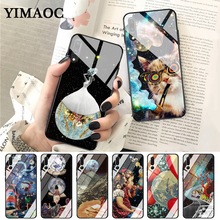 YIMAOC Trippy Art aesthetic Space astronaut Glass Case for Huawei P10 lite P20 Pro P30 P Smart honor 7A 8X 9 10 Y6 Mate 20