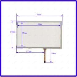 Zhiyusun xwt934 7 Polegada painel da tela de toque resistive digitador para carro dvd touchsensor vidro 164*100mm 164*100
