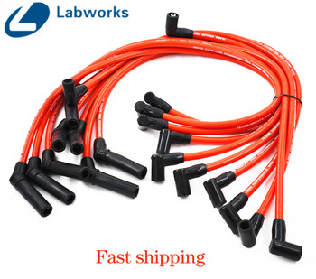 Racing Spark Plug Wires Set Red 10.5mm For Ford F-150 Mustang 5.8 5.0L NEW