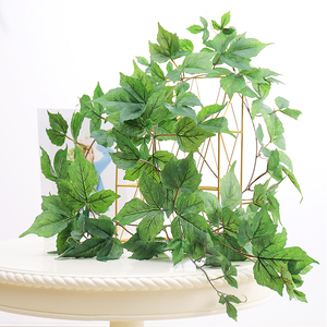 Image 4 - 180cm Artificial Plastic Plants Ivy Maple leaf garland tree Fake Autumn leaves Rattan Hanging Vines for Wedding Home Wall Decor