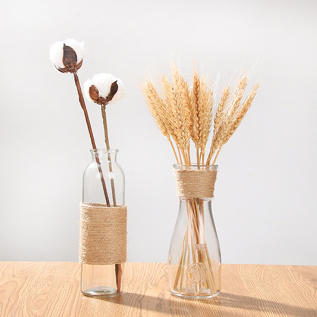 Creative Crystal Glass Vase Flower Arrangement Hydroponic Ornament European Simple Home Office Accessories Desktop Decoration 3