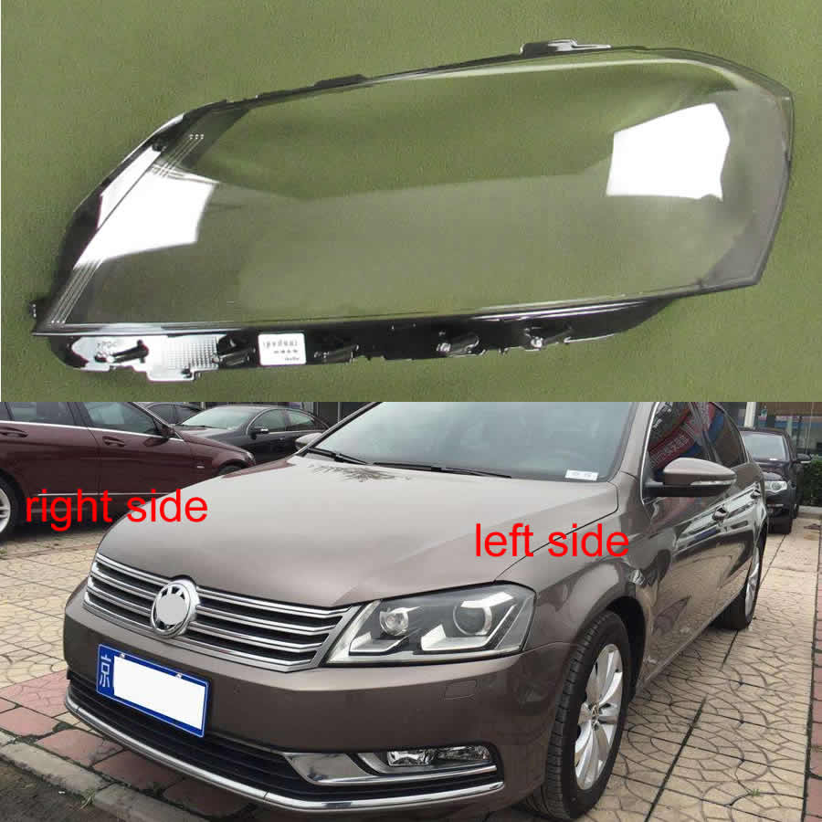 For Volkswagen VW Passat B7 /Magotan B7L 2012 2013 2014 2015 Front Headlight Transparent Lampshade Headlamp Cover Lens Glass