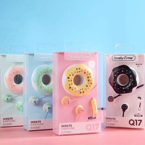 Image 2 - חמוד סופגניות Macaron אוזניות 3.5mm סטריאו באוזן Wired אוזניות עם מיקרופון אוזניות מקרה עבור ילדים בנות MP3 מתנות עבור IPhone Xiaomi