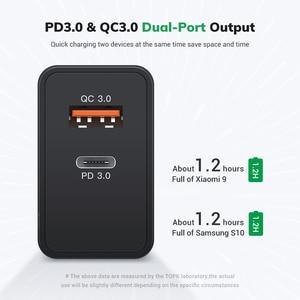 Image 3 - TOPK 36W Quick Charge 3.0 caricatore USB PD caricatore USB C caricabatterie rapido US UK adattatore spina ue per iPhone 11 Xiaomi Samsung