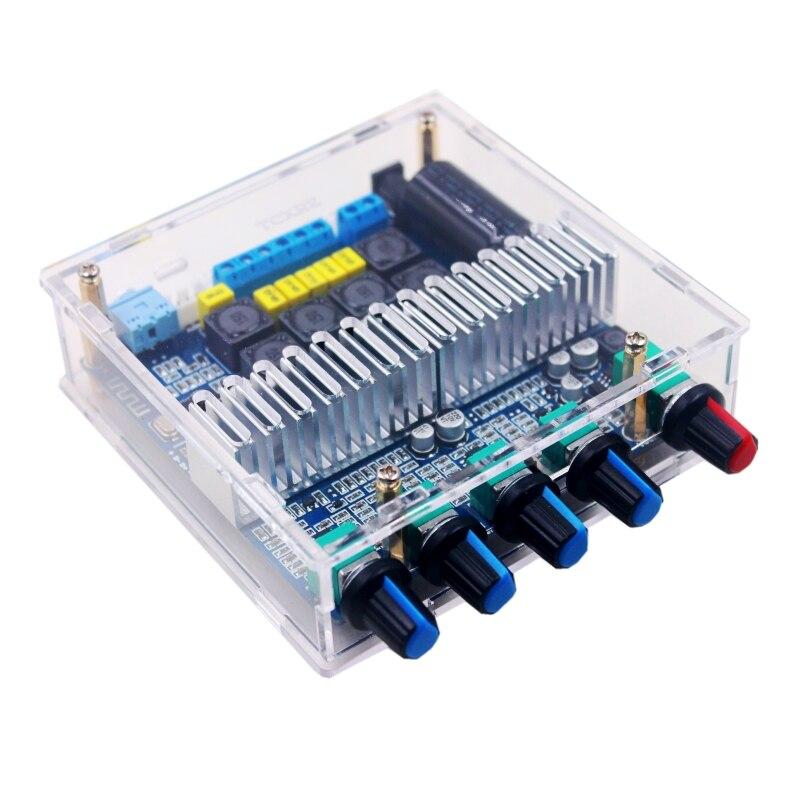 TPA3116D2 Bluetooth 5,0 сабвуфер усилитель платы 2,1 канала высокой мощности аудио стерео усилитель плата 2*50 Вт + 100 Вт басовый усилитель