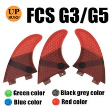 surf fins fcs g3/g5 quillas barbatana de honeycomb fiberglass 3 pieces per set  s