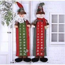 TTLIFE, 90*23 см, Рождественский календарь, Санта-Клаус, снеговик, Рождество, Год, обратный отсчет, подвесные украшения, Декор для дома, офиса, двери