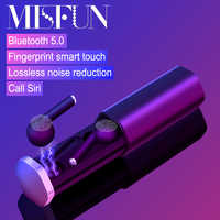 Redukujące hałas słuchawki słuchawki sportowe tws stereo Bluetooth słuchawki 5.0 prawdziwe słuchawki bezprzewodowe IPX5 wodoodporne bezprzewodowe