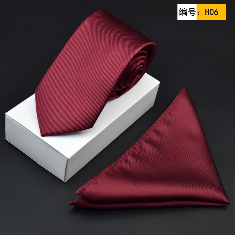 CityRaider 2020 New Men's Tie And Pocket Square Set Red Silk Necktie With Handkerchiefs 2pcs Set Burgundy Skinny Tie Slim C061
