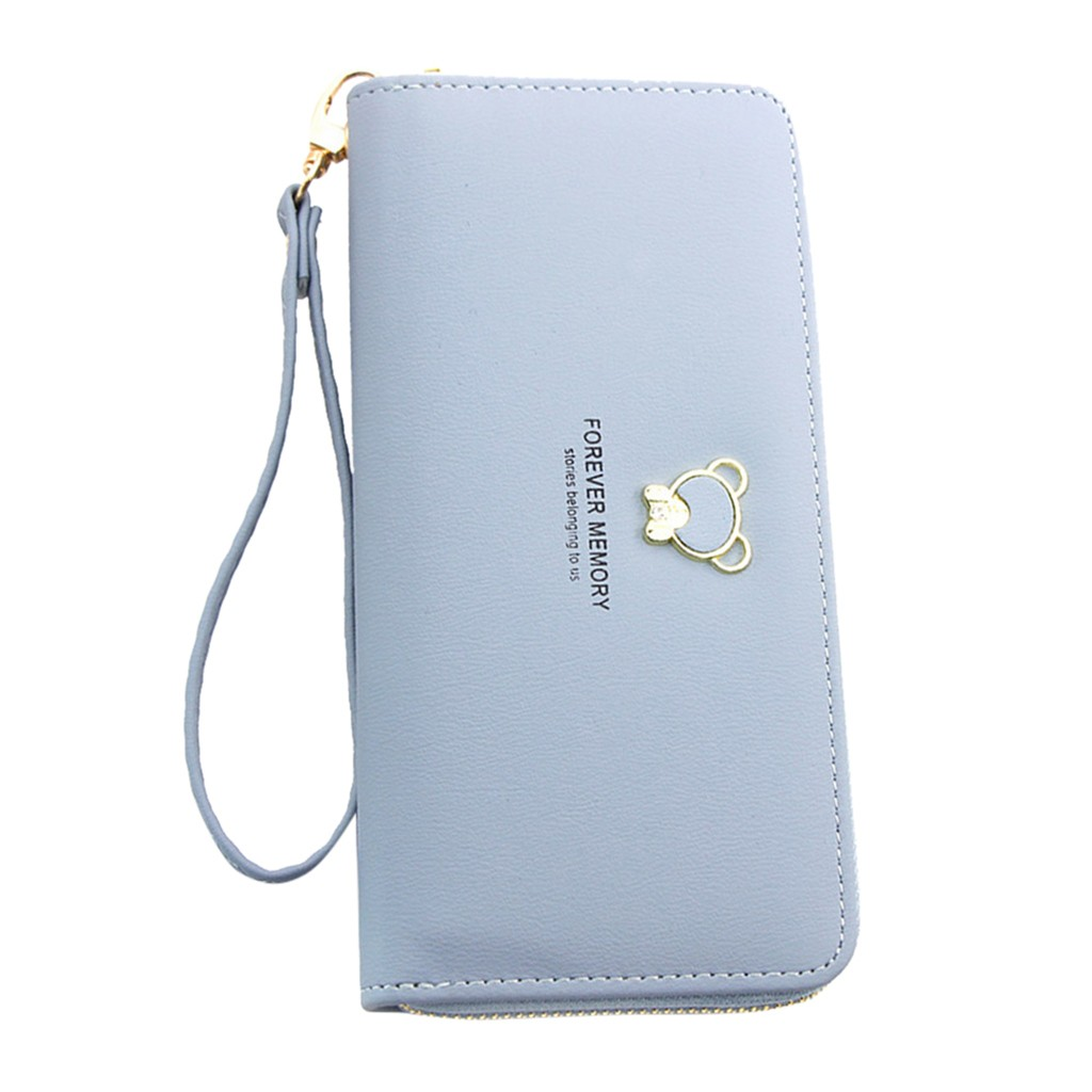 Women's Wallet Elegant Clutch Long Zipper Wallet Bag Women's Interior Compartment Coin Purse Card Package Big Fashion Wallets