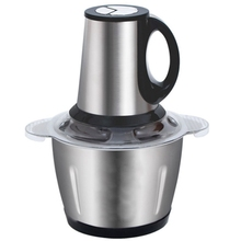 Stainless Steel Eu Plug Meat Grinder Chopper Electric Automatic Chopper Household Grinder Food Processor цена и фото