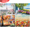 HUACAN Picture By Numbers Landscape Handpainted Home Decoration Oil Painting Flower Drawing Canvas Wall Art Gift