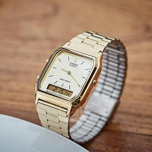 Image 3 - Casio watch gold watch men top brand luxury Dual display Waterproof Quartz men watch Sport military WristWatch relogio masculino