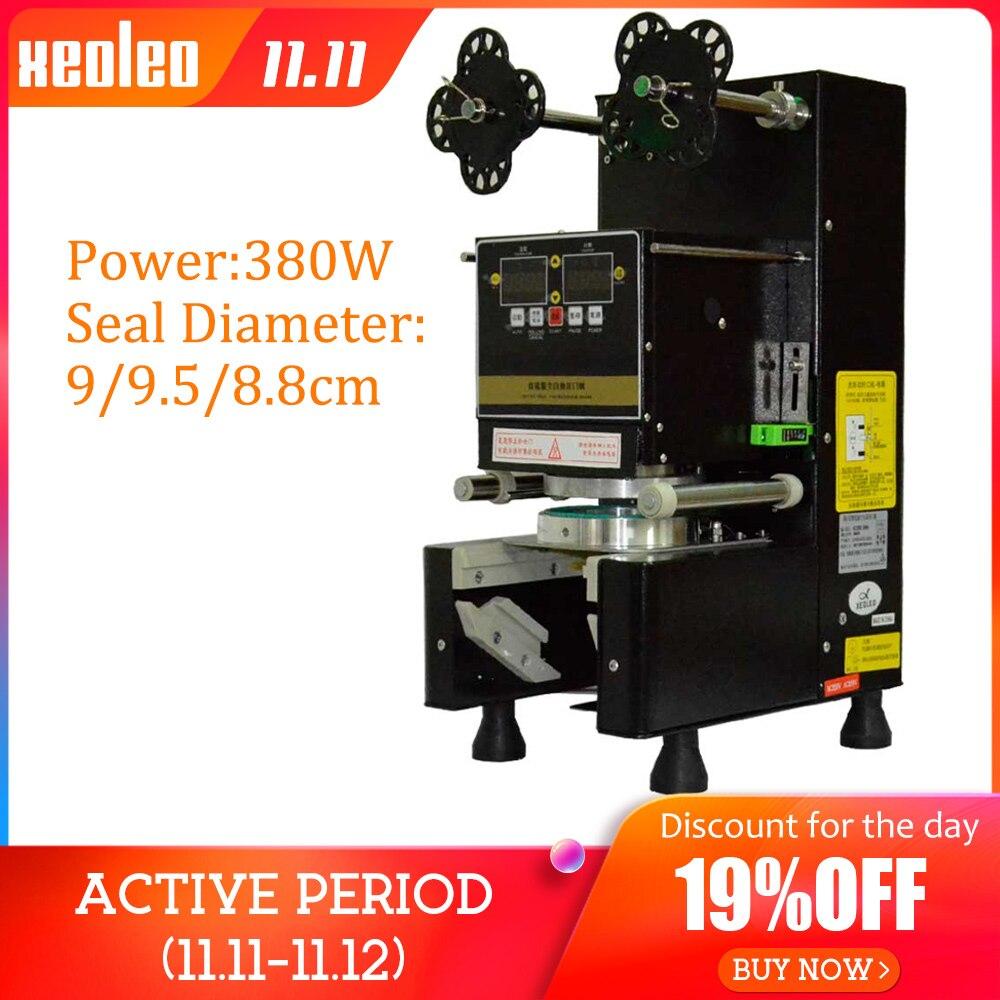 Xeoleo Cup sealer Cup Sealing machine Full Automatic Bubble tea machine for 9/9.5/8.8 PP/PE/Paper Milk tea cup Seal Black/White
