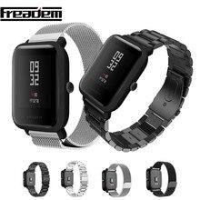 20mm Armband für Xiaomi Huami Amazfit Jugend Smart Uhr Metall Edelstahl Strap Stahl Gürtel Strap für Amazfit Bip handgelenk Band