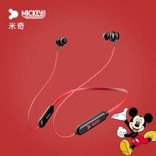 Disney Mickey Hals Hung Draadloze Bluetooth Headset In Ear Sport Running Mobiele Telefoon Bellen