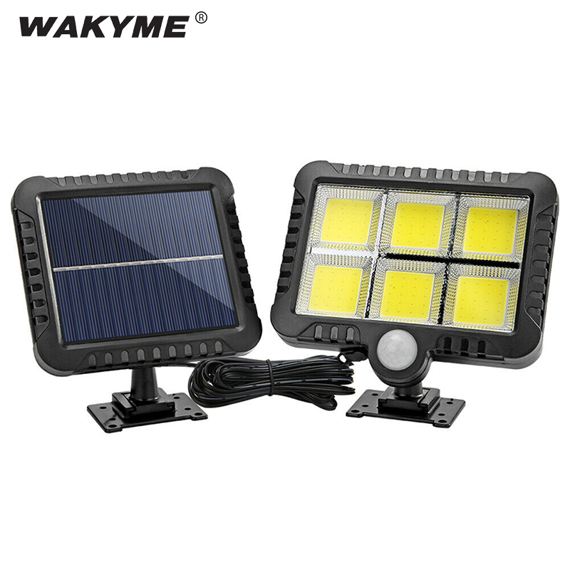 WAKYME 120 LED Solar Light Wall Lamp Outdoor PIR Motion Sensor Garden Light Waterproof Solar Powered Infrared Sensor Street Lamp