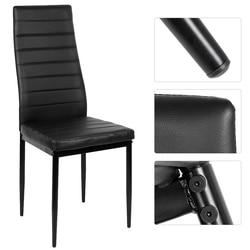 2 sztuk/zestaw nowoczesne krzesła jadalnia stołek wysokie oparcie Faux Leather metalowe nóżki wyściełane krzesło jadalnia meble pokojowe HWC na