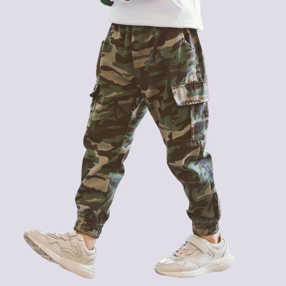 Kids Camo Print Tracksuit Trousers Girls Boys Jogging Bottoms Sweatpants 3-14 Y