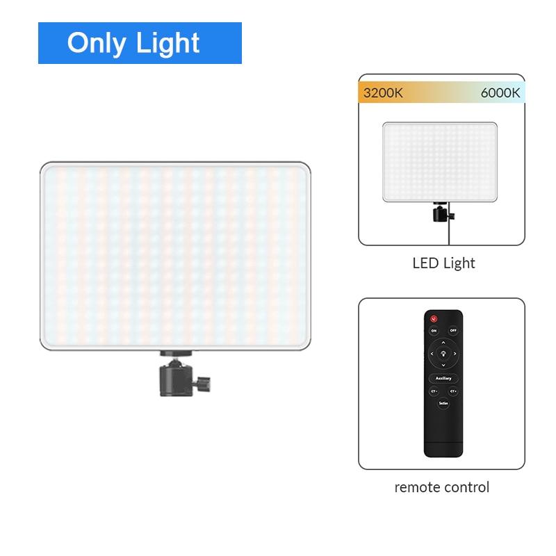 Hd71c806af05b4ef48e5e01058a34eeefW Dimmable LED Video Light Panel EU Plug 2700k-5700k Photography Lighting For Live Stream Photo Studio Fill Lamp Three Color