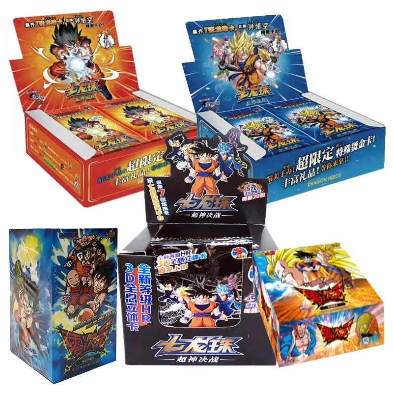 2021 Japanese Anime Dragon Toy Christmas Super Sayayin Heros Z Trading Card Game Collection Cards Toys For Children