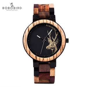 Мужские деревянные наручные часы Bobo Bird, мужские часы из дерева, мужские часы, кварцевые наручные часы с автоматической датой, Светящиеся женские наручные часы