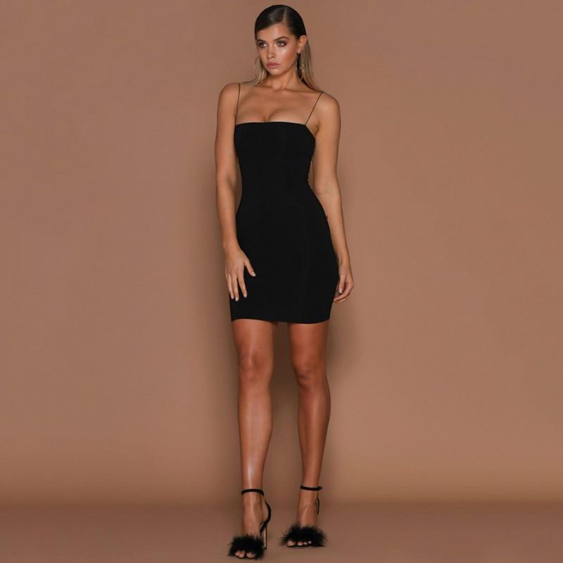 Hd71cc75848cc4aa7bce9465bd350913cU 2019 Womens Summer Solid Color Sexy Sheath Mini Dresses Evening Halter Sleeveless Club Wear Bodycon Dress Vestidos Dropshipping