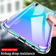 Luxury Shockproof Silicone Case For Huawei P30 Lite P20 P40 P10 Mate 20 30 10 40 Lite Pro Honor 20 V20 P Smart 2019 Back Cover cheap CN(Origin) Half-wrapped Case For Huawei Case 360 Transparent 360 Full Cover Protection case For Huawei Shockproof phone case