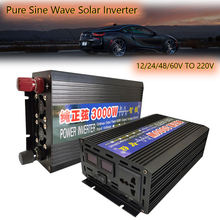 Car Inverter Pure Sine Wave Solar Power Inverter 12V 24V 48V 60V To 220V 1000/2000/3000/4000W Car Power Inverter Transformer