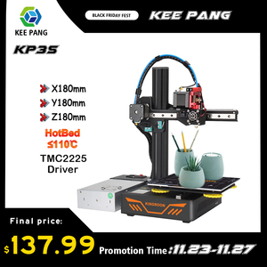 KP3S Upgrade 3D Printer Aluminum Resume Printer High Precision Touch Screen DIY 3D Printer kit impressora 3d 180x180x180mm