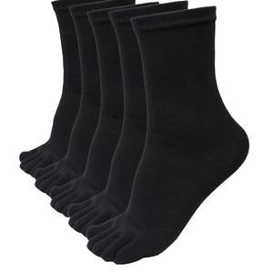 5 Pairs Five Finger Toe Socks Men Sports Running Elastic Short ankle Socks Autumn Winter High Quality Comfortable Male Socks