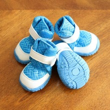 4pcs/Set Pet Dog Anti-Slip Shoes Waterproof Rain For Medium Large Dogs Wear-Resistant Boots Paw Protector