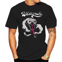 Whitesnake t рубашка в стиле «Рок» «ремешка ретро; В винтажном