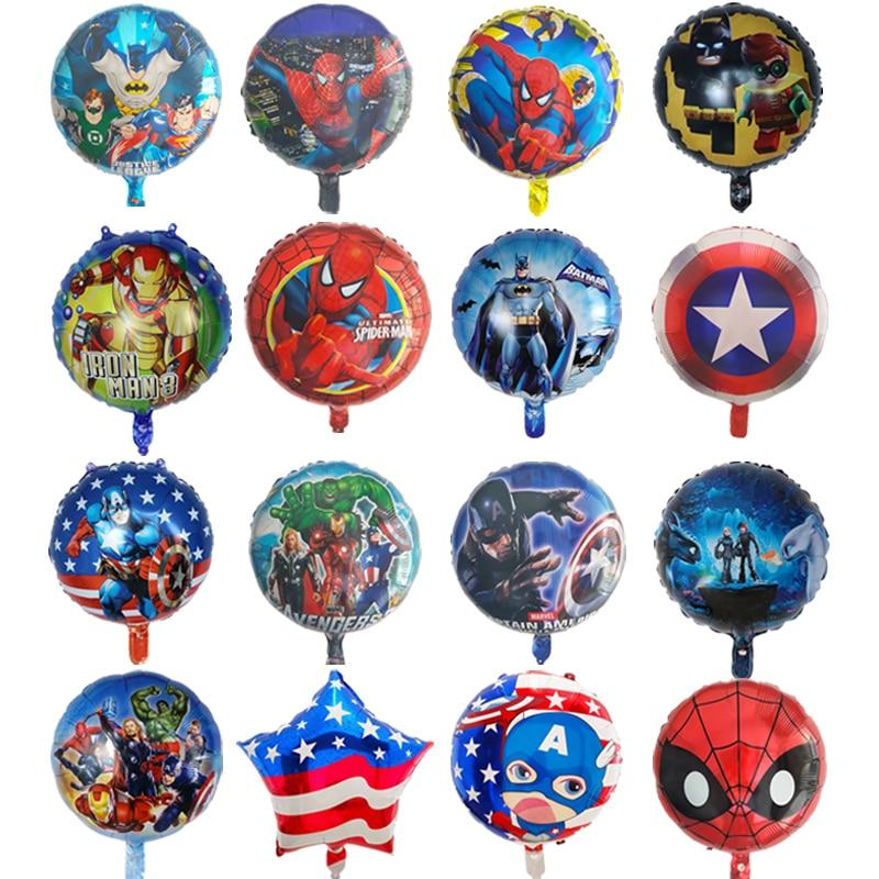 5 шт. 18 дюймов шары Мстители паук супер герой Человек Бэтмен Фольга Воздушный Шар Детские вечерние товары для дня рождения Детские игрушки д...