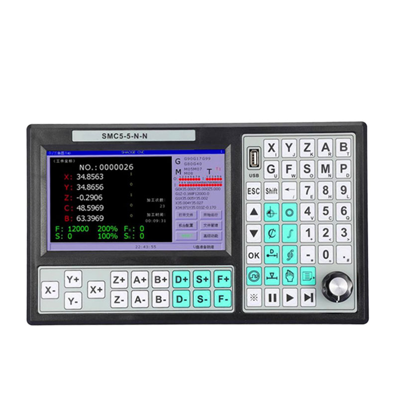 CNC 5 Axis 500KHz Stand Alone Motion Controller Offline Support RTCP Replace Mach3 USB Controller 7 Inch Screen