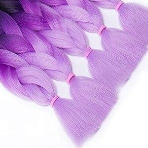 Dream как 24 дюйма эффектом деграде (переход от темного к Цвет синтетические волосы косы предварительно растянуты Моток объемной стеклопряжи плетение, канекалон, волосы для увеличения объема 100 г/шт.