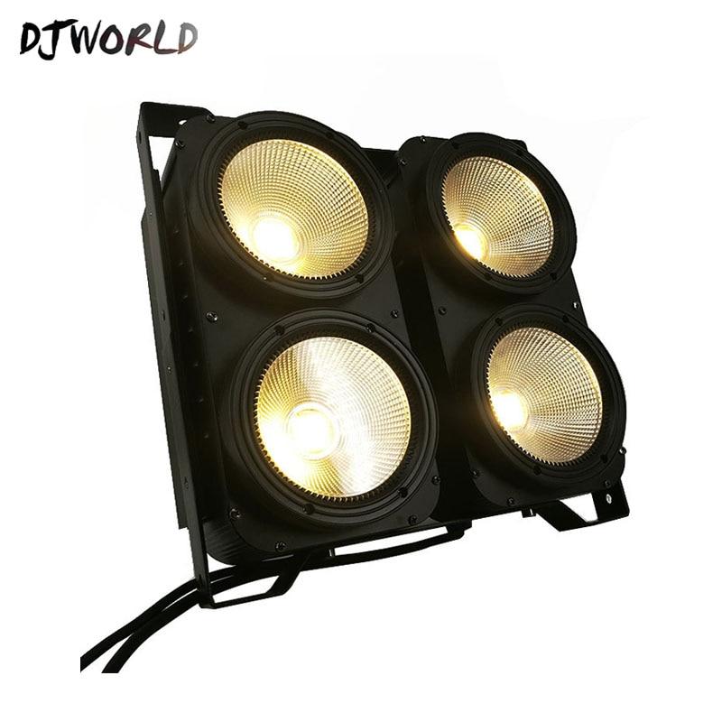 DJworld 4x100W 4 yeux LED Blinder lumière COB blanc froid et chaud LED haute puissance éclairage professionnel de scène pour Dj Disco Party