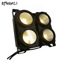DJworld 4x100W 4 Eyes LED Blinder Light COB Cool And Warm White High Power Professional Stage Lighting For Dj Disco Party
