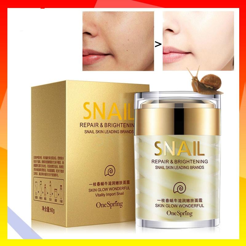 OneSpring Snail Cream Anti Wrinkle Moisturizer Care Repair Cream Treatment Skin Acne And Faical Face Nourishing