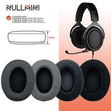 Null mini – oreillettes de remplacement, pour CORSAIR HS50 HS60 HS70, casque à manches en cuir