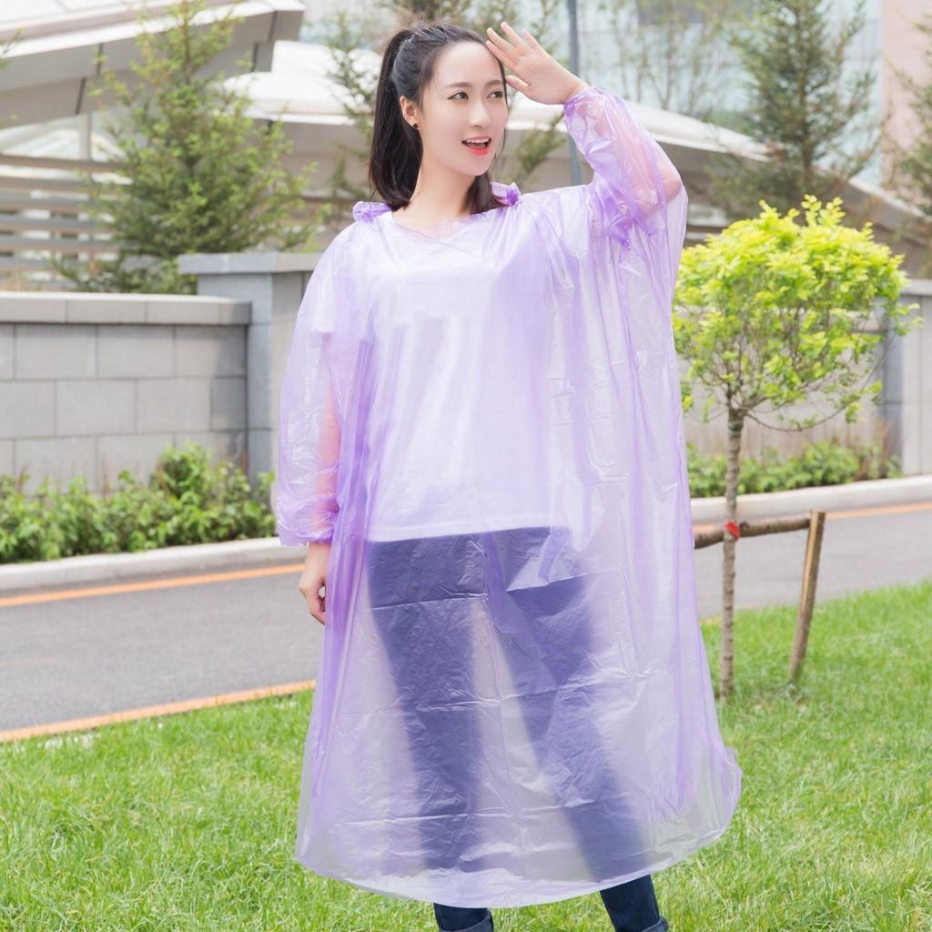 1pc Unisex Raincoats Disposable Emergency Rain Coat Poncho Hiking Camping Coat