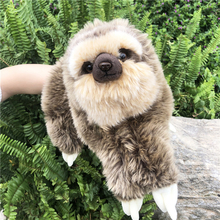 Animal Hand Puppet stuffed Puppets Dolls Plush Sloth Hand Doll Learning Baby Toy