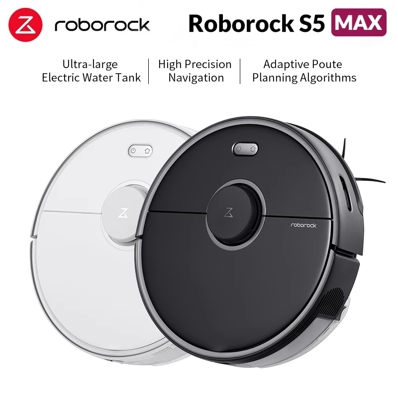 Roborock S5 MAX Aspiradora con fregadora para el hogar, limpiador inteligente robótico para barrer y limpiar en casa, modelo Roborock S5 S55 Max Xiaomi|Aspiradoras| - AliExpress