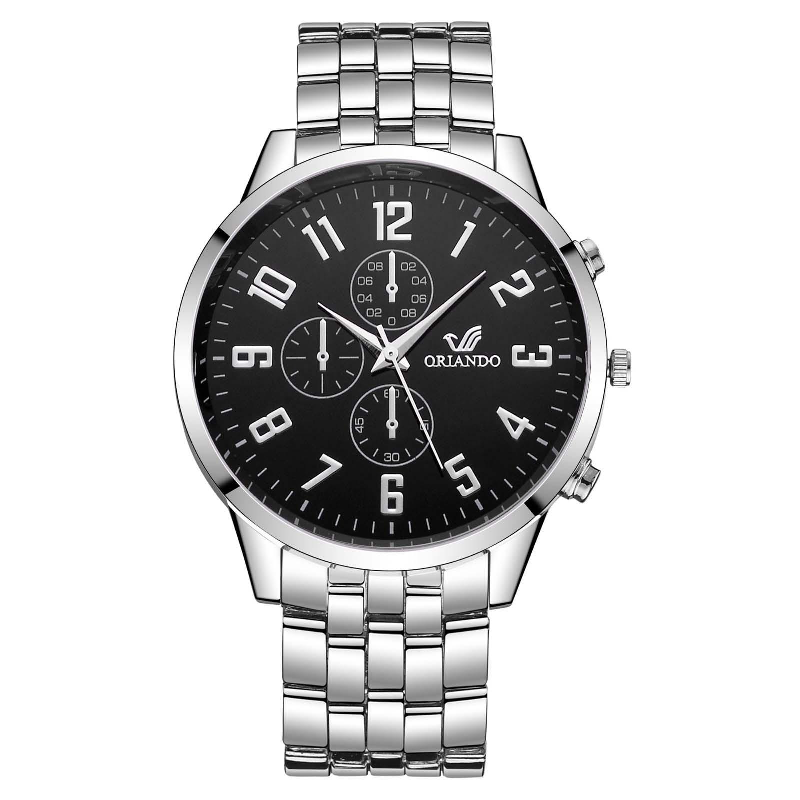 גברים של שעוני יד שעון אופנה שעון שעון מזדמן נירוסטה שמלת יד קריסטל תכשיטי relogio masculino zegarek męski