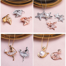 MIX STYLES HOT CHEAP Silver Plated Pendant Mounts Findings Settings Jewelry Parts Fittings Accessories for Pearls Stones