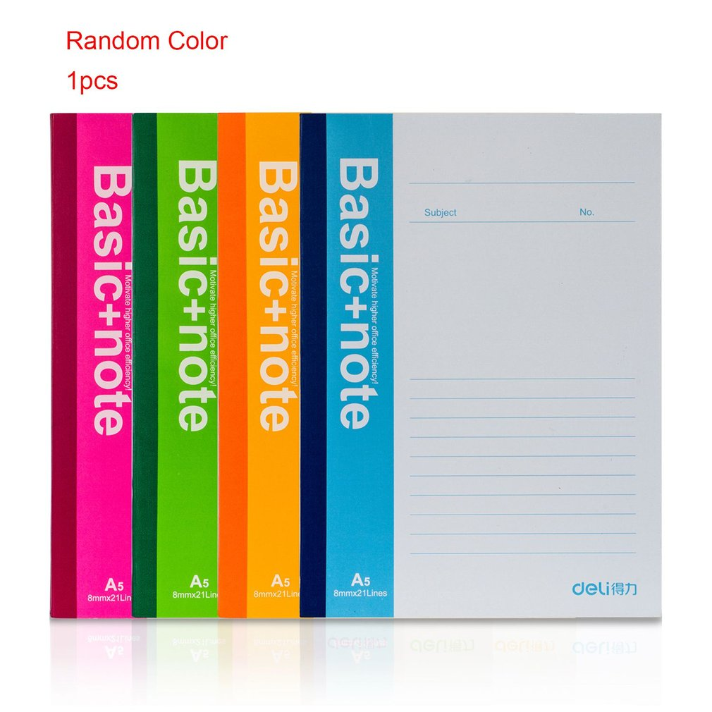 A5 Notebook 80 Pages Sheets 7654 Pocketbook Homework Business Wireless Binding Marking Notes Journal Records Supplies
