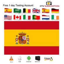 Europe 1 Year Spain IPTV m3u Subscription for Portugal Dutch Sweden Israel enigma2 code PC Smart tv Android Phone Box Free test x96mini android smart set top tv box 1 year nordic israel portugal dutch scandinavia europe world iptv subscription live vod kbd