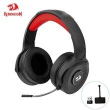 REDRAGON PELOPS Pro H818 Gaming 2.4G wireless Headphones 7. 1 surround sound Gamer Computer Stereo headset Earphones Microphone